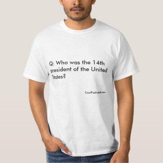 Flashcardの人間のTシャツ: 第14大統領 Tシャツ