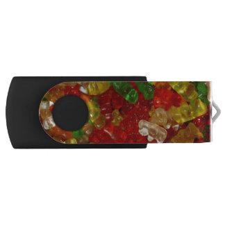flashdrive粘着性くま32GBの旋回装置 USBフラッシュドライブ