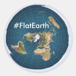 "#FlatEarth 3""円形のステッカー ラウンドシール"