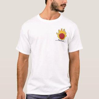 Flawmarkの燃えるような悪魔の頭部 Tシャツ