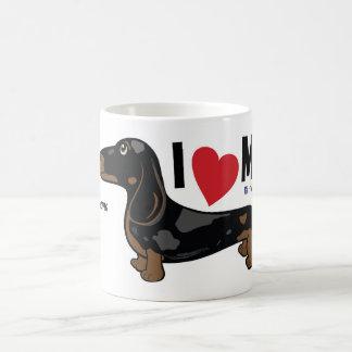 """FLDRは""""私が私の""""滑らか愛するダックスフントのマグをまだらにします コーヒーマグカップ"""