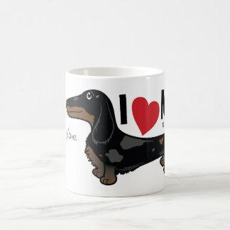 """FLDRは""""私が私の"""" LHを愛するDoxieのキャラクターのマグをまだらにします コーヒーマグカップ"""