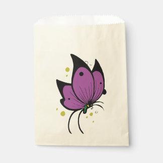 Fleckedの紫色の黒い蝶 フェイバーバッグ