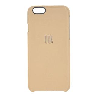 Fleekの金ゴールドのiPhone 6/6sの場合 クリアiPhone 6/6Sケース