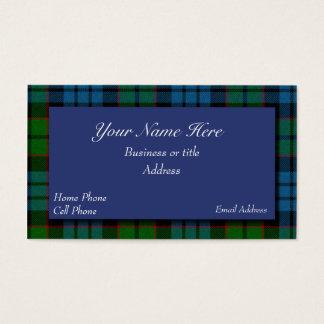 Fletcherのスコットランドのタータンチェック格子縞の名刺 名刺