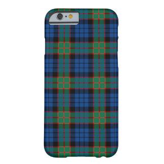 Fletcherの一族の明るく青および緑のタータンチェック Barely There iPhone 6 ケース