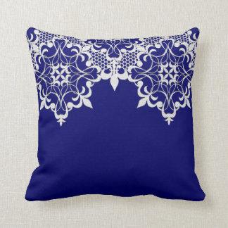 Fleur De Lace Blueの枕 クッション