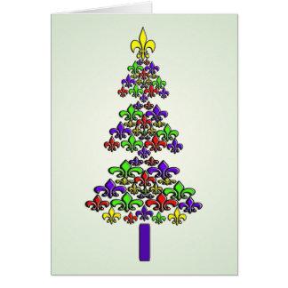 Fleur de Lysのクリスマスツリー カード