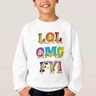 Flexiの子馬LOL FYI OMG スウェットシャツ