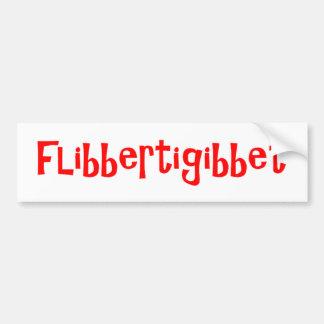 Flibbertigibbet バンパーステッカー