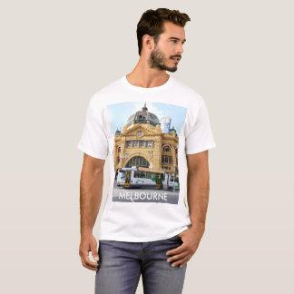 Flindersの通りの場所メルボルンオーストラリア Tシャツ
