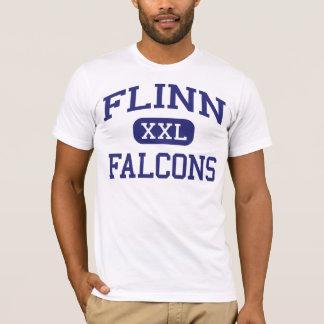 Flinnの《鳥》ハヤブサ中間のロックフォードイリノイ Tシャツ