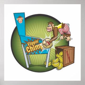 Flippinのチンパンジーポスター ポスター