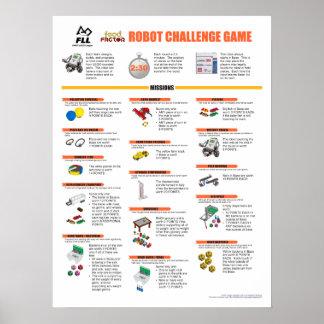 FLLの2011年の食糧要因ロボットゲームの代表団ポスター ポスター