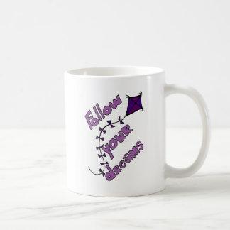 Fllowあなたの夢のマグのバイオレット コーヒーマグカップ