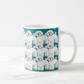 Floofyの子犬パターン コーヒーマグカップ