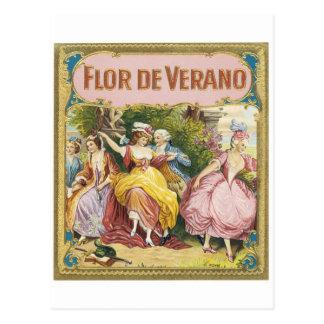 FLOR DE VERANO VINTAGEの芸術ポスター ポストカード