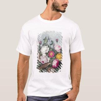 「Floraの寺院からのバラ、 Tシャツ