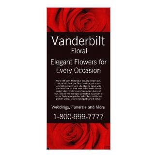 Floral Company FloristrRedのバラの棚カード ラックカード