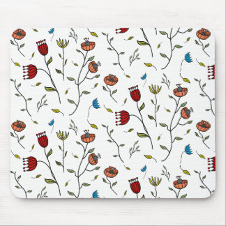 Floral Spice Colorful Flowers Pattern Illustration マウスパッド