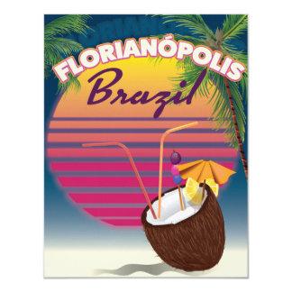 Florianópolisブラジル旅行ポスター カード
