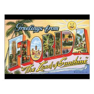 Florida_Vintage旅行ポスターからの挨拶 ポストカード