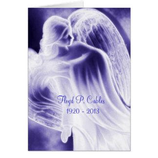 Florillaのブルーエンジェルの悔やみや弔慰のサンキューカード カード
