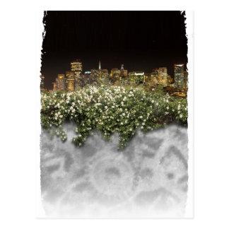 Flower and night view ポストカード