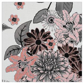 Flower Garden Pink and Grey FTDP ファブリック