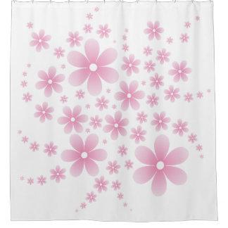 Flower Line D Type Pink シャワーカーテン