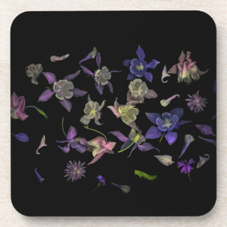 Flower Magic coasters with cork back - set of 6 コースター