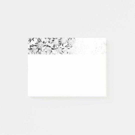 flower monochrome ポストイット