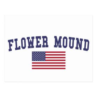 Flower Mound米国の旗 ポストカード
