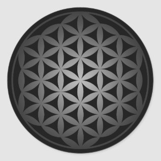 flower of life3 丸形シールステッカー