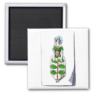 Flower Paintingタマキビの女性 マグネット