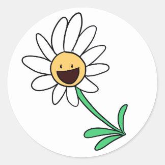 Flower Round Sticker氏 ラウンドシール