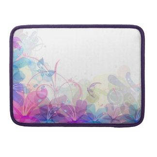 Flowerfulの蝶抽象芸術の場合 MacBook Proスリーブ