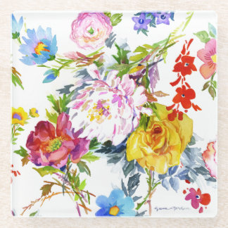 Flowerings ガラスコースター