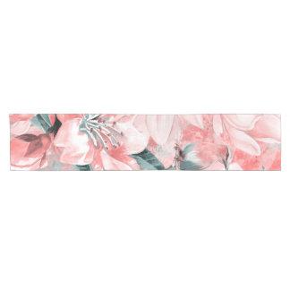 flowers2bflowersおよび鳥パターン#flowers ショートテーブルランナー