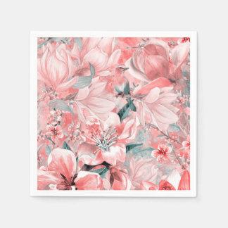 flowers2bflowersおよび鳥パターン#flowers スタンダードカクテルナプキン