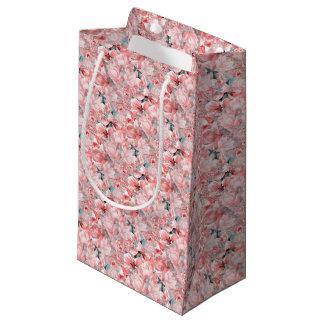 flowers2bflowersおよび鳥パターン#flowers スモールペーパーバッグ