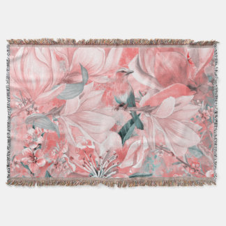 flowers2bflowersおよび鳥パターン#flowers スローブランケット