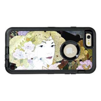 Flowers Floral Caseアールヌーボーのエレガントな女性 オッターボックスディフェンダーiPhoneケース