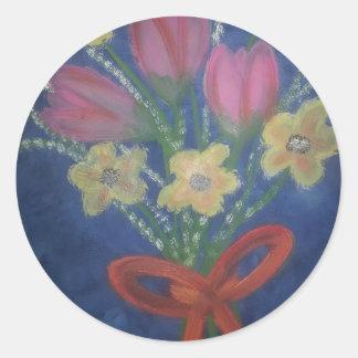 flowers.jpgの束 ラウンドシール