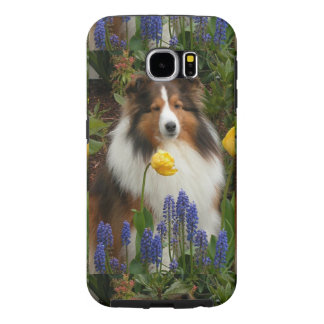 flowers.pngのシェットランド・シープドッグ samsung galaxy s6 ケース