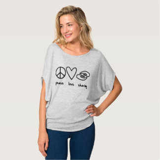 Flowyのワイシャツを共有する平和愛 Tシャツ