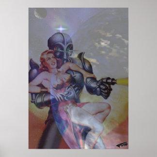 FLOYDルイス著ロボットそして女の子 ポスター