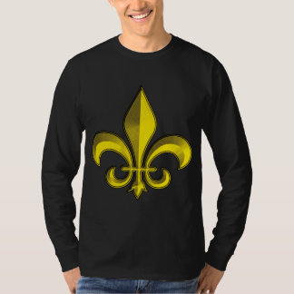 Fluer De Art Bevelの金ゴールドのフレスコ画 Tシャツ