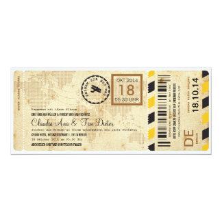 Flugzeug BordkarteのチケットHochzeitseinladung カード