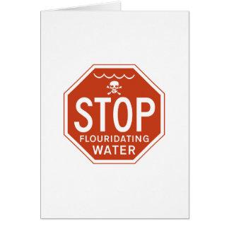 FLUORIDATING水を-フッ化物か実行主義または抗議ストップ カード
